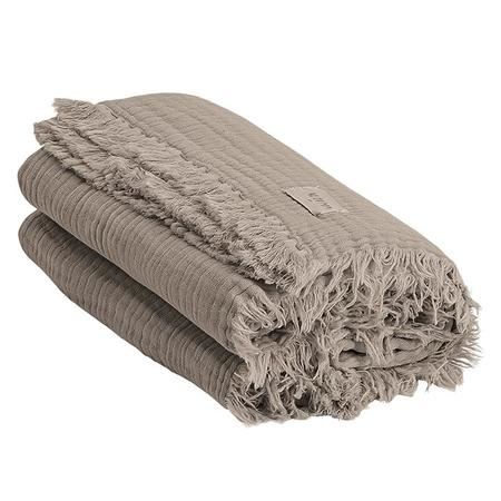 Kids Moumout Autumn Paris Plaid Loulou Throw Blanket - Earth Taupe