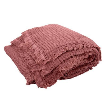 kids Moumout Paris Autumn Paris Plaid Loulou Throw Blanket - Brown