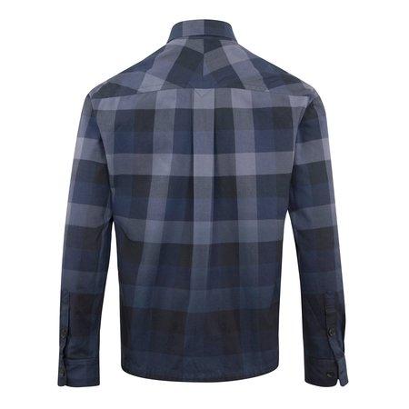 Kenzo Overdyed Flannel Check Overshirt - Navy