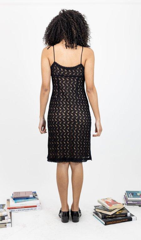 Vintage 1990s Parallel Crotchet Lace Slip Dress