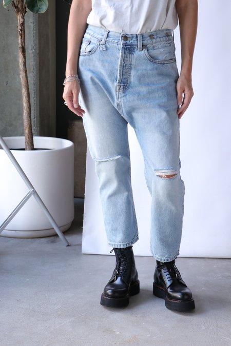 R13 Tailored Drop denil - Logan Blue