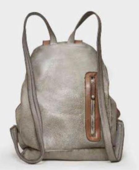 Vive La Difference Loft Calf Backpack - Silver Gray