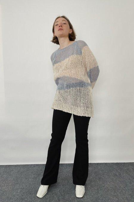 Cest la vie Stripe Knit Top - Sky blue