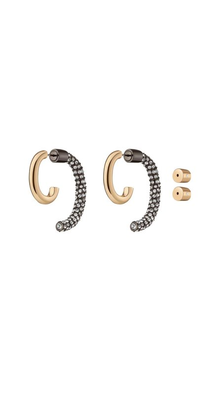 Demarson Pave Convertible Luna Earrings - 12k gold plating/Brass
