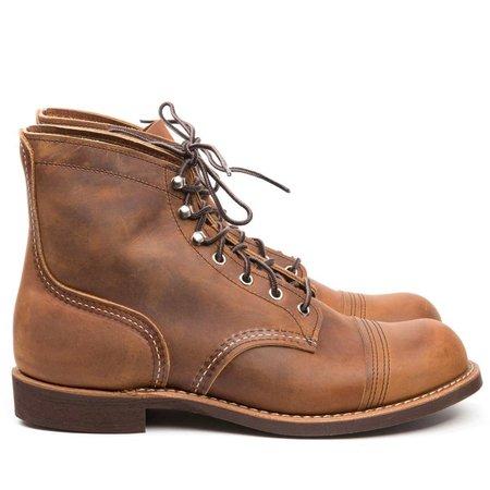 Red Wing Shoes Rough & Tough Vibram 8085 Iron Ranger shoes - Copper