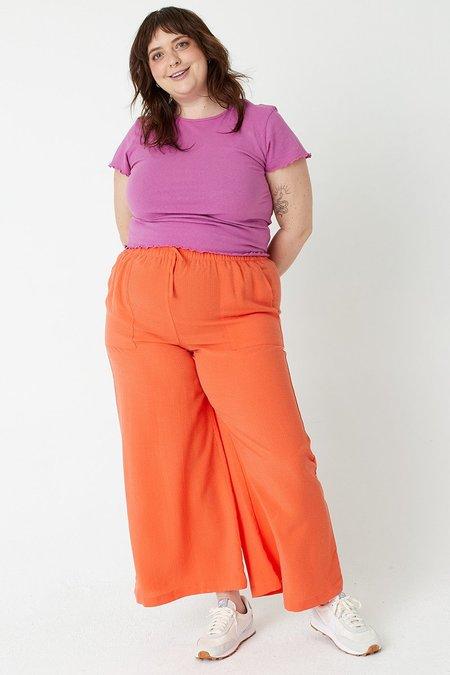 BACK BEAT RAGS Tencel Seersucker Pants - Tangerine