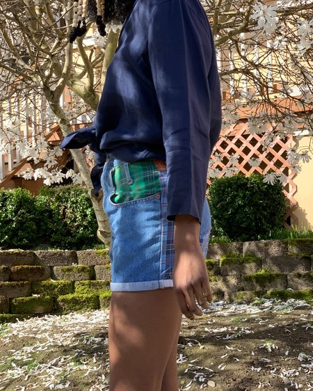 Pre-loved Linen Armani Button Down shirt - navy