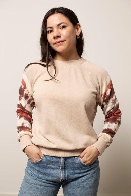 Jungmaven Stained Glass Alpine Raglan sweater - Dusty Pink