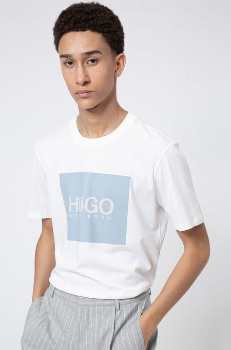 Hugo Boss Dolive Box Print T-Shirt - White