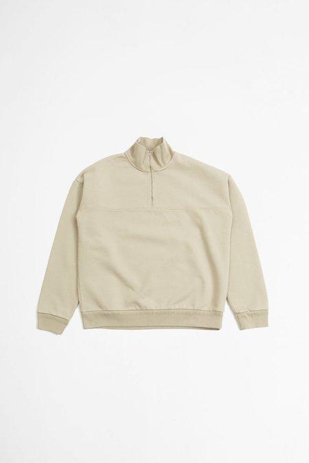 Jeanerica Alain half zip sweatshirt - stone