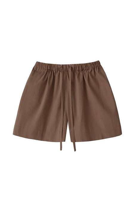 Azi Land Kaia cotton shorts - Walnut