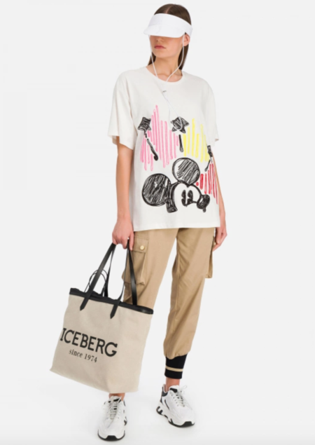 UNISEX Iceberg Mickey Mouse T- Shirt - Embroidered