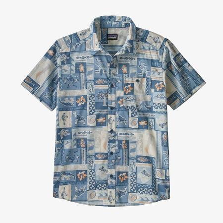PATAGONIA Go To Shirt - Galapagos Archipelagos Hawthorne Blue