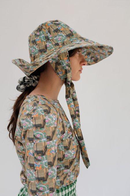 Beklina Tie Hat - Marni's Check Print