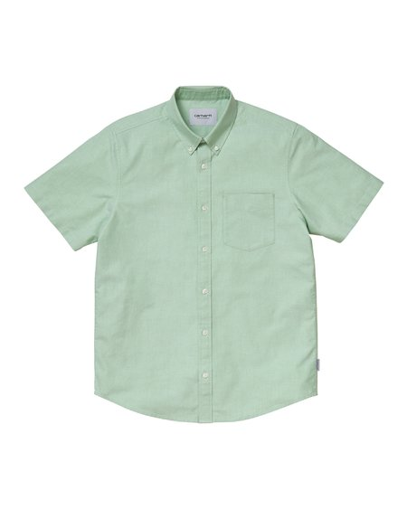 CARHARTT WIP Camisa SS Button Down Pocket - Mineral Green
