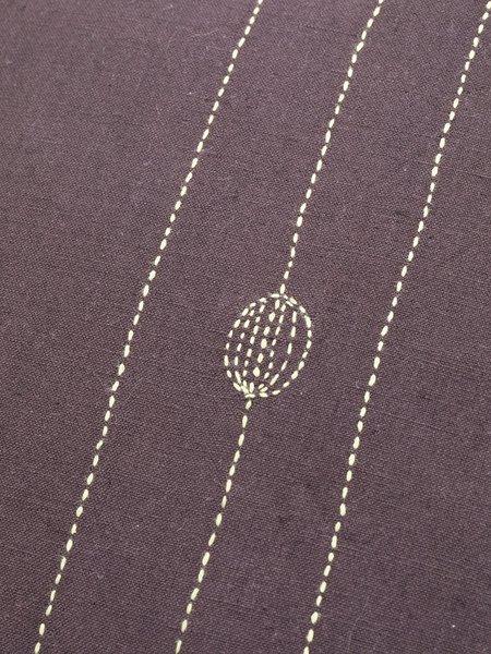 Erica Tanov Hand-Embroidered Prune Linen Pillowcases