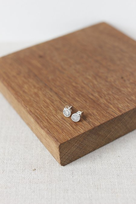 CLP Small Dot Stud Earrings - Sterling Silver