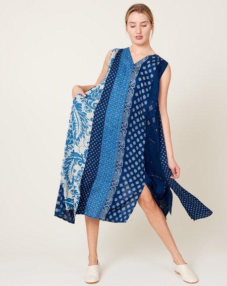 Kapital French Cloth Linen Lamp Dress - Indigo