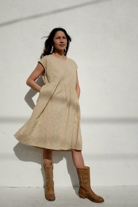 Et Tigre Rosario Short Dress - Tan Eyelet