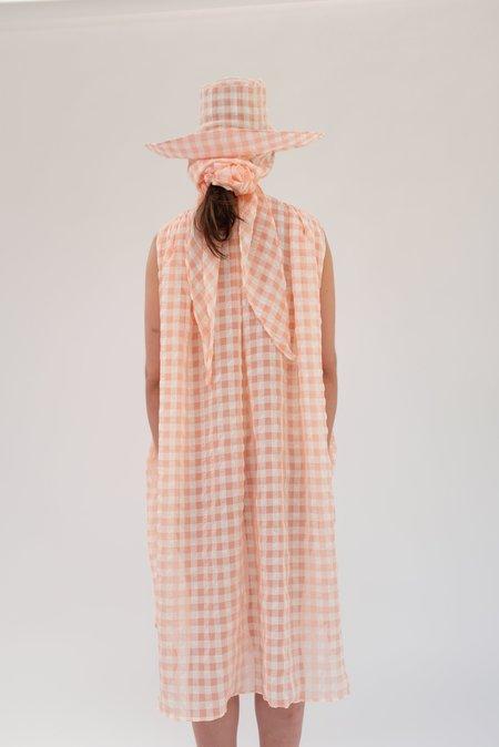 Beklina Basta Dress - Grapefruit Gingham