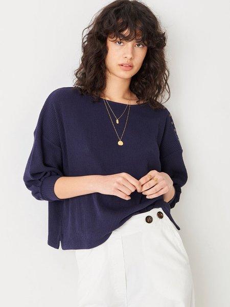 Sessun Kituba Waffle Knit sweater - Indigo