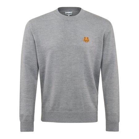 Kenzo Tiger Crest Classic Merino Crewneck sweater - Grey