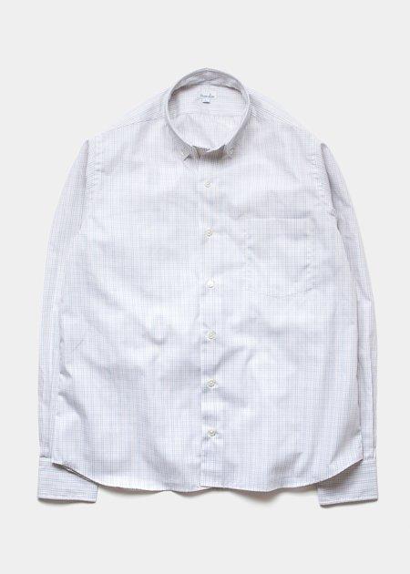 Steven Alan Single Needle Shirt - Ochre Grid