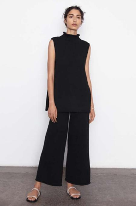 St. Agni Toyo Sleeveless Knit Top - black