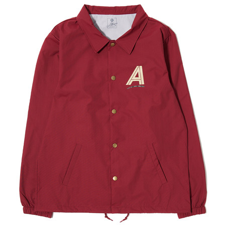 ALLTIMERS SEARS COACHES JACKET - BURGUNDY