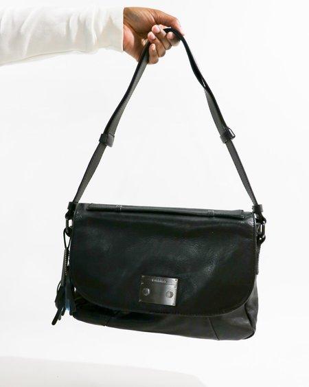 Pre-loved Calvin Klein Leather Shoulder Bag - black