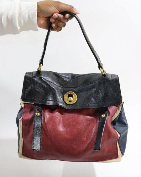 [pre-loved] Yves Saint Laurent The Muse 2 Top Handle Bag - Black/Burgundy