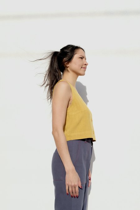 Eve Gravel Jade Top - Saffron