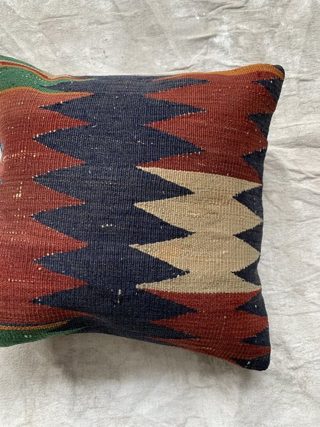 Cuttalossa & Co. Zig Zag Kilim Throw Pillow