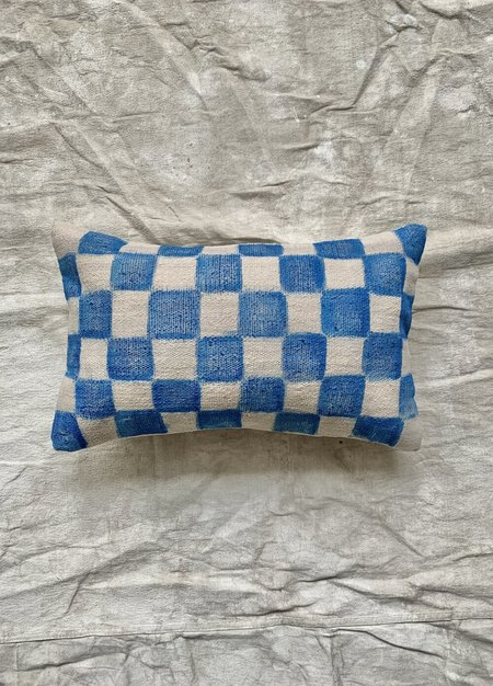 Cuttalossa & Co. Hand Painted Checkered Lumbar Pillow
