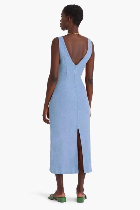 Paloma Wool Emma Long Linen Dress - Light Blue