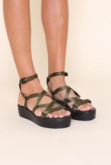 """INTENTIONALLY __________."" 2 Platform Sandals - Khaki"