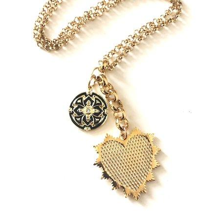 Jennifer Tuton Mesh Heart Charm Necklace