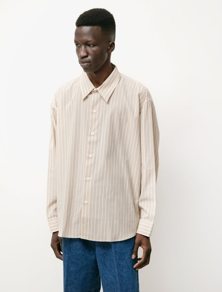 mfpen Exact Shirt - Beige Stripe