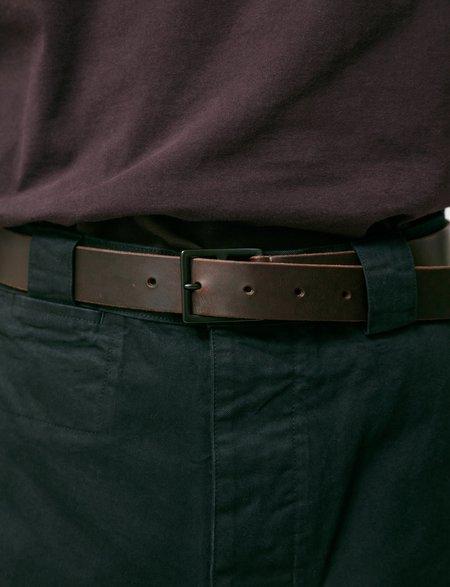 Margaret Howell Military Belt Leather - Dark Brown