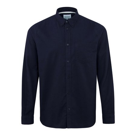 Norse Projects Anton Brushed Flannel Shirt - Navy