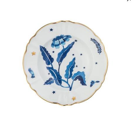 Bitossi Flower Deep Plate - Blue