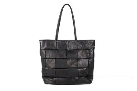 Primecut Checkered Leather Tote
