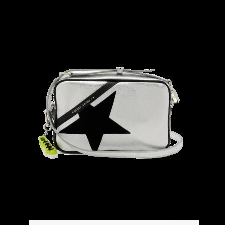 Golden Goose Star Bag - Laminated Silver/Black Suede
