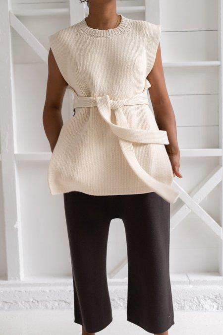Lauren Manoogian Interlock Apron Top - Raw White