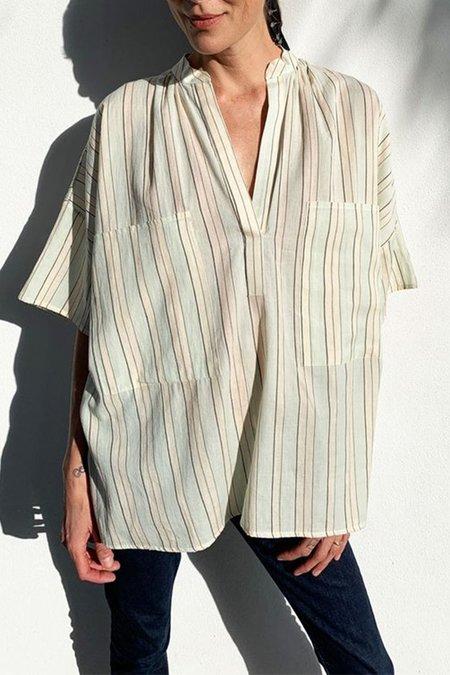 Two New York Two Pocket Shirt - Blue Stripe