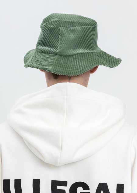 Salon Des Refuses Corduroy Bucket Hat - Green