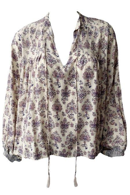Natalie Martin Lizzy Shirt - Cyprus Print Lilac