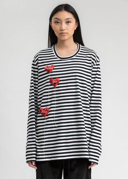 Doublet Happy Balloons Long Sleeve T-Shirt - White/Black