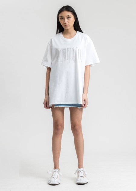 Doublet Chain Fringe Embroidery T-Shirt - White