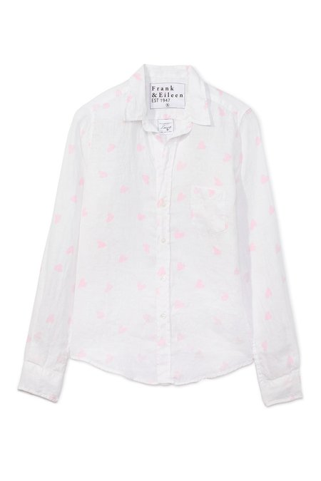 Frank & Eileen Barry Button Down - Large Messy Pink Heart
